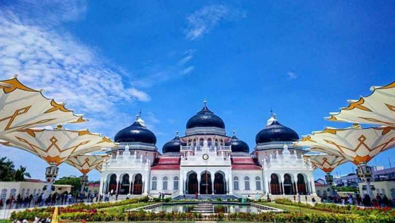 Tenda Membrane Payung Mesjid Baiturahman Aceh