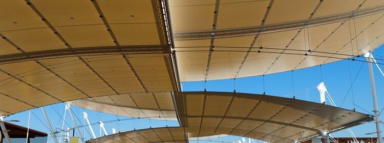 contoh atap dari kain agtex (hanya ilustrasi)