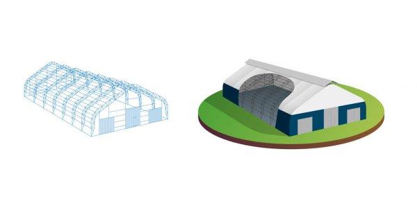contoh struktur tenda gudang